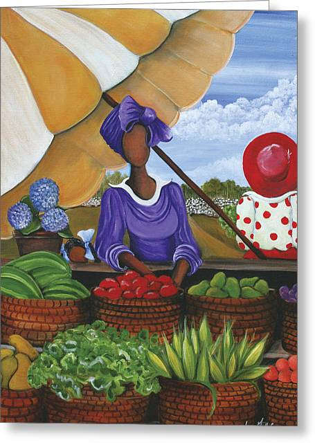 African-americans Greeting Cards - More Than Enough Greeting Card by Sonja Griffin Evans