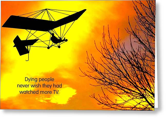 Take Charge Greeting Cards - More TV Please Greeting Card by Mike Flynn