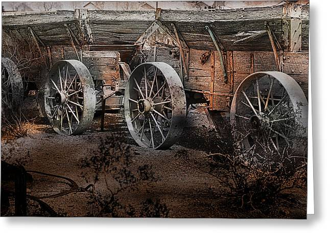 Gunter Nezhoda Greeting Cards - More Wagons East Greeting Card by Gunter Nezhoda