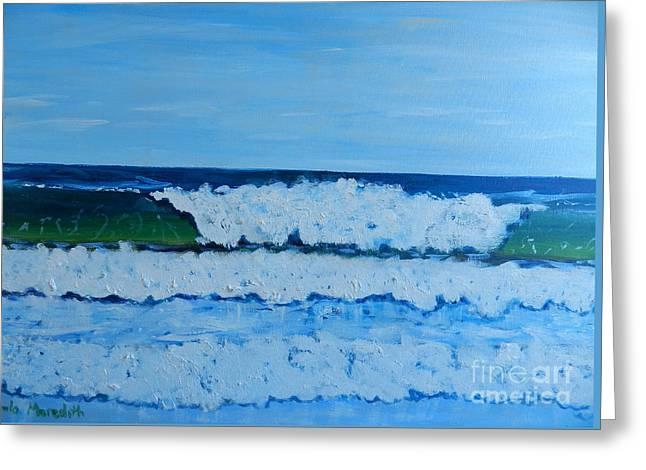 Pamela Meredith Greeting Cards - More Waves at Bulli Beach Greeting Card by Pamela  Meredith