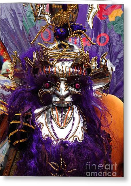 Latino Culture Greeting Cards - Morenada Dancer Portrait Greeting Card by James Brunker