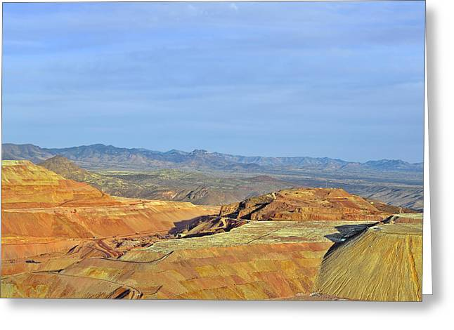 Layer Greeting Cards - Morenci - A Beauty of a Copper Mine Greeting Card by Christine Till
