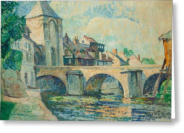 Moret Greeting Cards - Moret-sur-loing Greeting Card by Edgar Rowley Smart