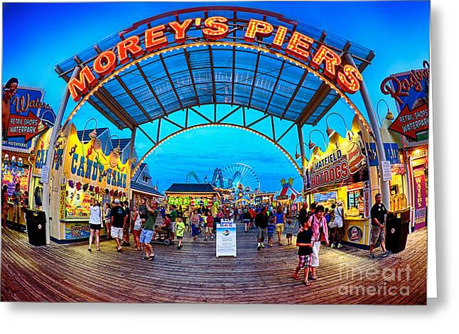 Game Greeting Cards - Moreys Piers in Wildwood Greeting Card by Mark Miller
