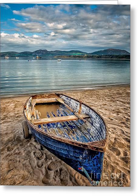 Adrian Evans Greeting Cards - Morfa Nefyn Boat Greeting Card by Adrian Evans