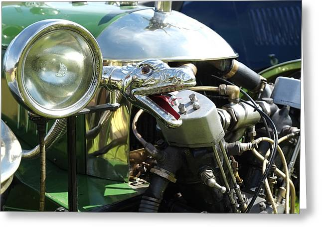 Mog Greeting Cards - Morgan 3 wheeler light and snake horn Greeting Card by Adrian Beese