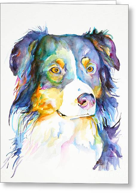 Working Dog Greeting Cards - Morgan Greeting Card by Pat Saunders-White