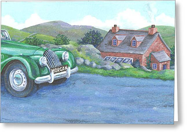 Driving Greeting Cards - Morgan Greeting Card by Peter Adderley