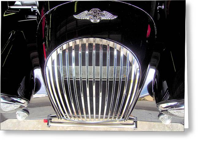 Mog Greeting Cards - Morgan Sports Car Grille Greeting Card by Don Struke
