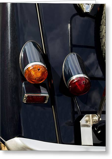 1987 Greeting Cards - Morgan Tail Lights Greeting Card by Nomad Art And  Design