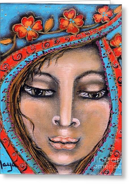 Morganna Greeting Card by Maya Telford