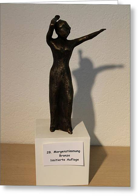 Emotions Sculptures Greeting Cards - Morgenstimmung Greeting Card by Ingrid Edith Zobel