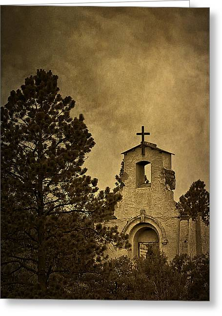 Morley Church Greeting Card by Priscilla Burgers