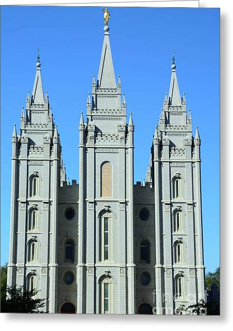 Struckle Greeting Cards - Morman Temple Greeting Card by Kathleen Struckle