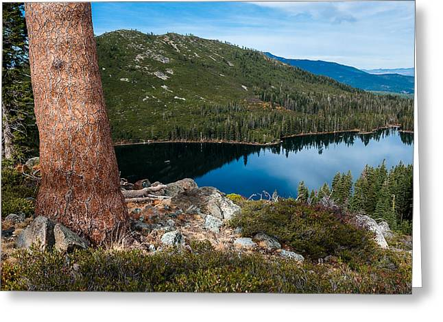 Castle On Mountain Greeting Cards - Morning Above Castle Lake Greeting Card by Greg Nyquist