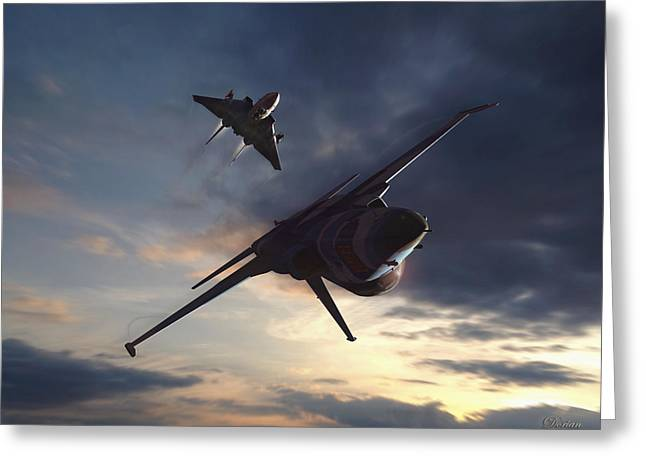 Adversary Greeting Cards - Morning Aerobatics Greeting Card by Dorian Dogaru