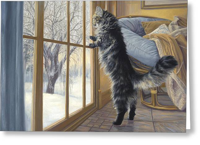 """""""sliding Doors"""" Greeting Cards - Morning After Greeting Card by Lucie Bilodeau"""