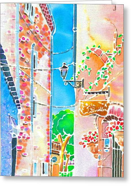 Provence Village Greeting Cards - Morning air  Greeting Card by Hisayo Ohta