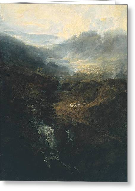 Painter Of Light Greeting Cards - Morning amongst the Coniston Fells Cumberland 1798 Greeting Card by J M W Turner