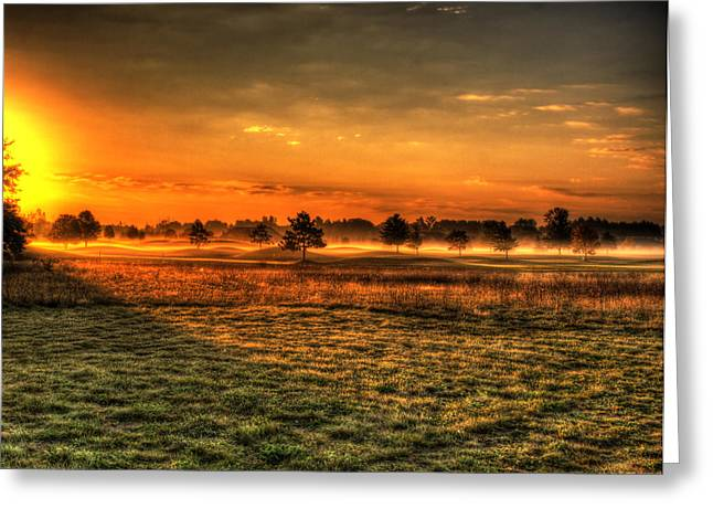 Wisconsin Golf Greeting Cards - Morning Arrives At Foxfire  Greeting Card by Thomas Young