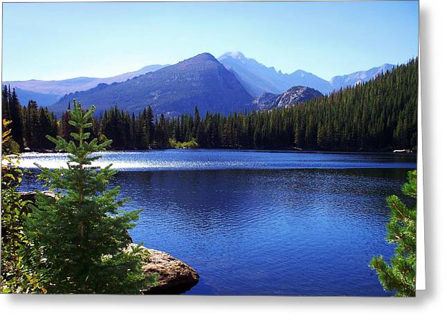 Rocky Mountain National Park Prints Greeting Cards - Morning At Bear Lake In Rocky Mtn. Nat. Park Greeting Card by Terril Heilman