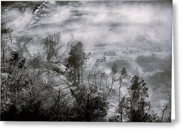 Ampamuka Greeting Cards - Morning at Bromo Heart Greeting Card by Suradej Chuephanich