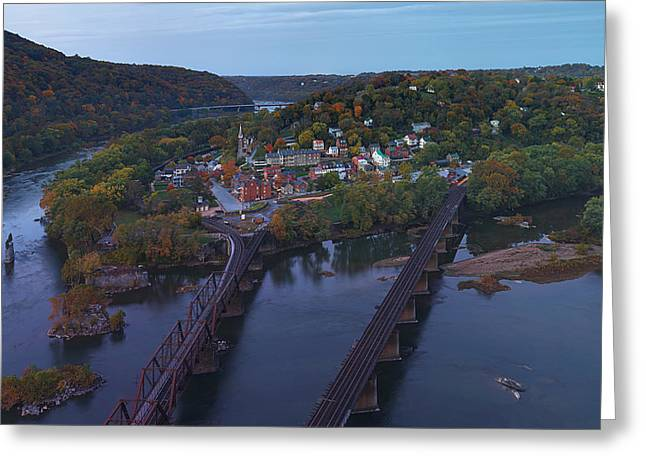 Mountain Greeting Cards - Morning at Harpers Ferry Greeting Card by Metro DC Photography