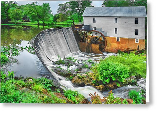 Historic Site Greeting Cards - Morning at Murrays Mill Greeting Card by Priscilla Burgers