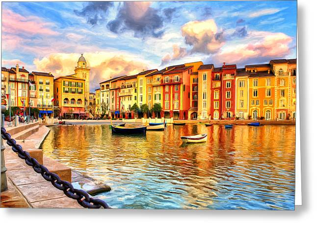 Portofino Italy Greeting Cards - Morning at Portofino Greeting Card by Dominic Piperata