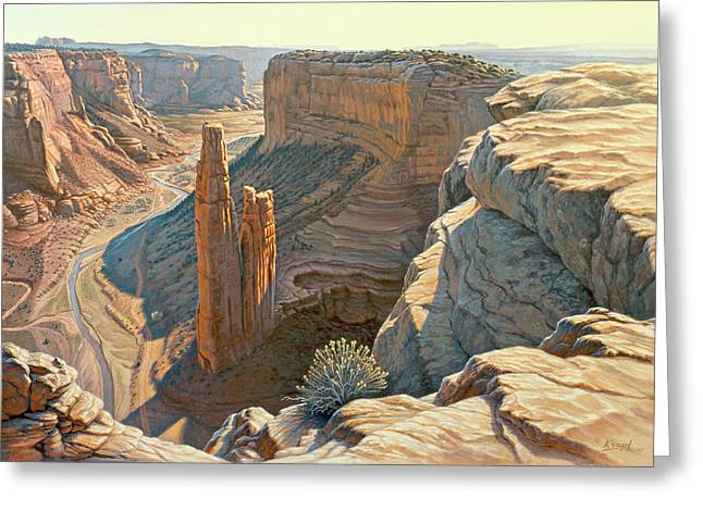Navajo Greeting Cards - Morning at Spider Rock Greeting Card by Paul Krapf