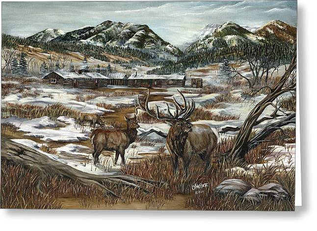 Hunting Cabin Greeting Cards - Hunters Paradise Greeting Card by Jim Olheiser