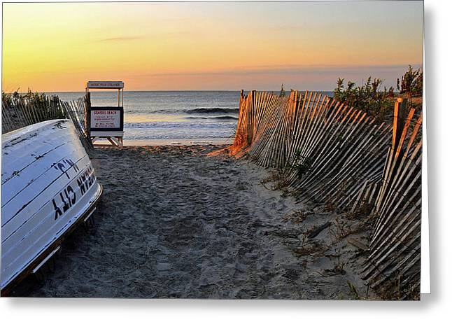 New Jersey Photographs Greeting Cards - Morning At The Beach Greeting Card by Dan Myers