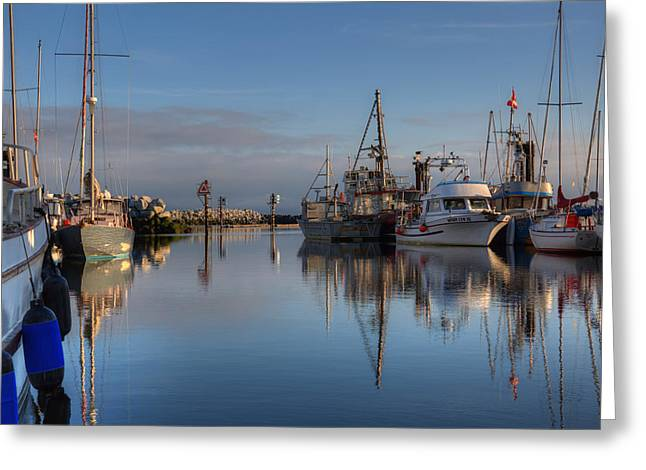 French Creek Marina Greeting Cards - Morning At The Marina Greeting Card by Randy Hall
