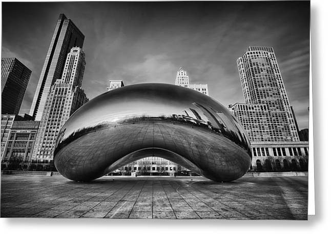 Bean Greeting Cards - Morning Bean in Black and White Greeting Card by Sebastian Musial