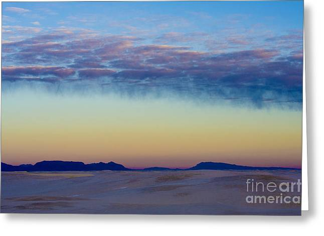 Morning Begins in White Sands Greeting Card by Sandra Bronstein
