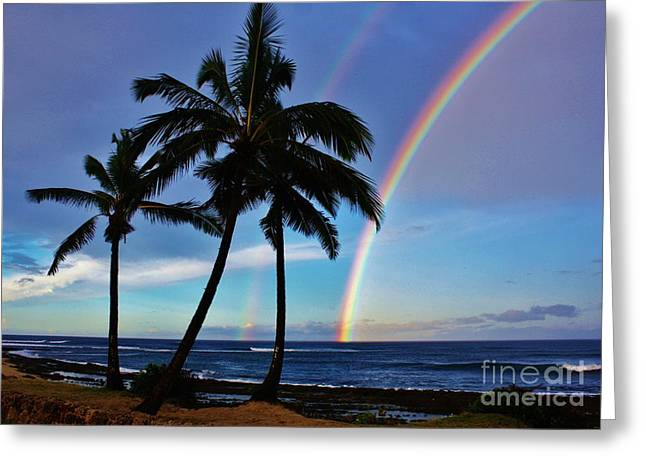Double Rainbow Greeting Cards - Morning Blessing Greeting Card by Craig Wood