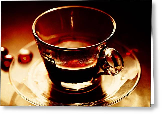 Coffee Drinking Greeting Cards - Morning Bliss Greeting Card by Jenny Rainbow