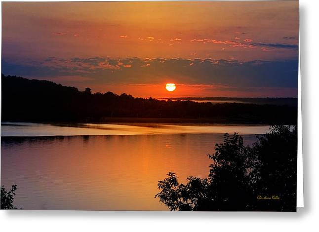 Morning Calm Greeting Card by Christina Rollo