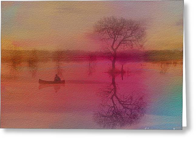 Canoe Photographs Greeting Cards - Morning Canoe Greeting Card by Jim  Hatch