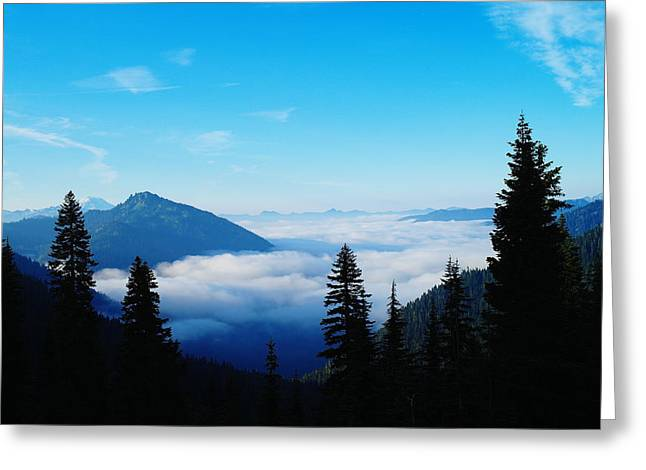 Mountain Valley Greeting Cards - Morning Clouds In The Valley  Greeting Card by Jeff  Swan