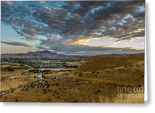 Organe Greeting Cards - Morning Clouds Over The Valley Greeting Card by Robert Bales