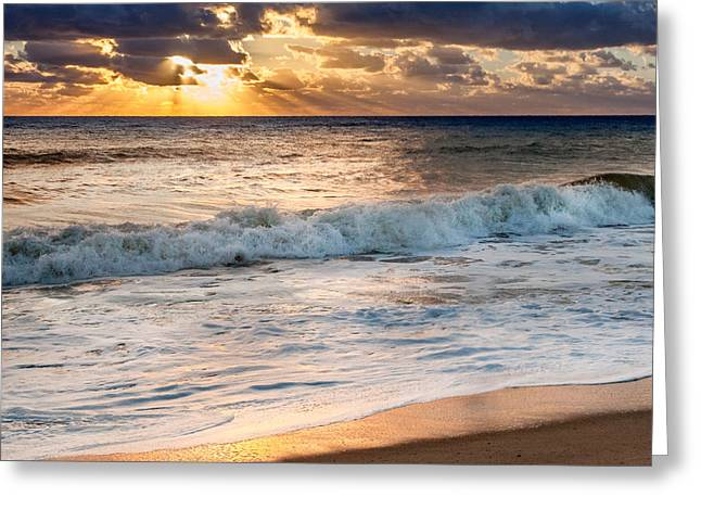Cape Cod National Seashore Greeting Cards - Morning Clouds Square Greeting Card by Bill  Wakeley