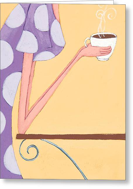Hot Shop Greeting Cards - Morning Coffee Greeting Card by Christy Beckwith