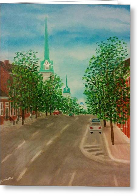 A Sunny Morning Greeting Cards - Morning Coffee in Fredericksburg Greeting Card by Jonathan Morgan