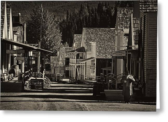 Barkerville Greeting Cards - Morning Coffee Greeting Card by Inge Riis McDonald