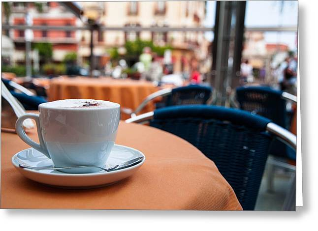 Capuccino Greeting Cards - Morning cup of coffee by Zina Zinchik Greeting Card by Zina Zinchik