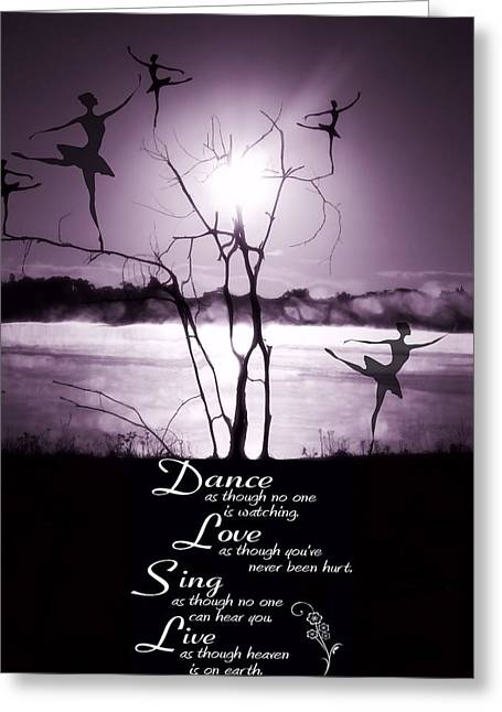 Dancer Art Greeting Cards - Morning Dance Greeting Card by Dan Sproul