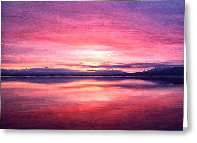 Wildlife Refuge. Greeting Cards - Morning Dawn Greeting Card by Michael Pickett