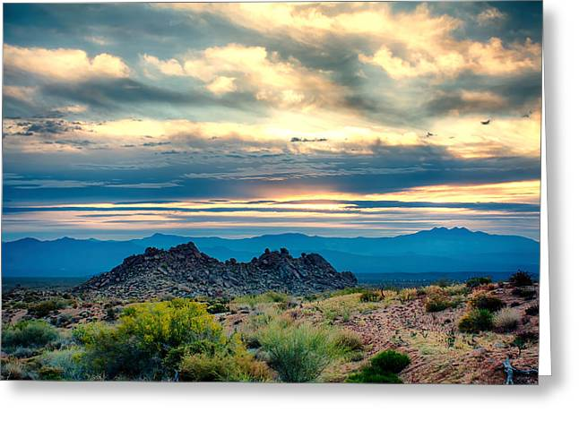 Nature Greeting Cards - Morning Desert Glow Greeting Card by Fred Larson