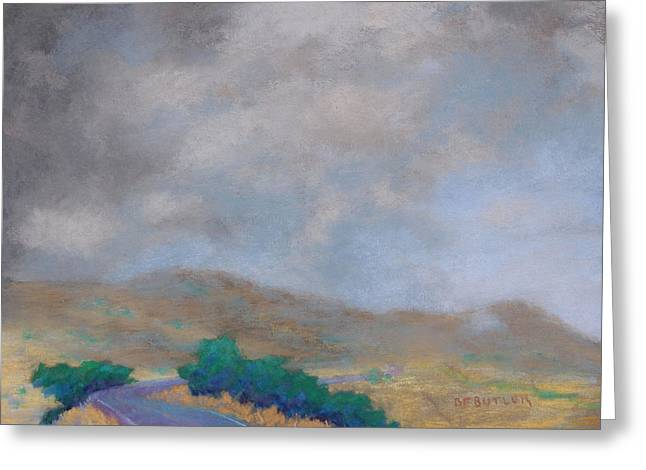 Road Trip Pastels Greeting Cards - Morning Drive Greeting Card by Bonnie Ferguson Butler